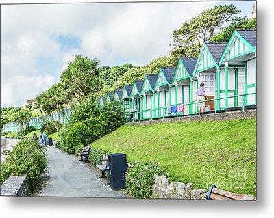 Beach Huts 5 Metal Print by Steve Purnell