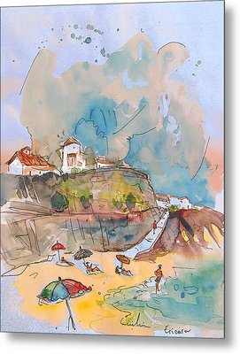 Beach In Ericeira In Portugal Metal Print by Miki De Goodaboom