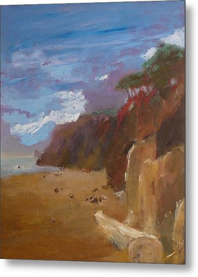 Beach In Santa Barbara Metal Print by Irena  Jablonski