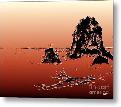 Beach Log Metal Print by Carol Grimes
