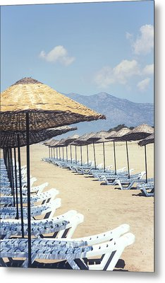 Beach Loungers Metal Print by Joana Kruse