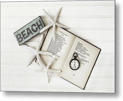 Beach Love Metal Print by Kim Hojnacki