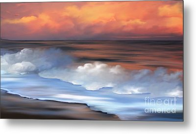 Beach Oasis Metal Print by Anthony Fishburne