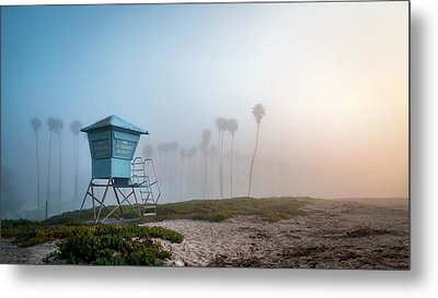 Metal Print featuring the photograph Beach Office by Sean Foster