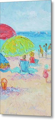 Beach Painting - A Relaxing Day Metal Print