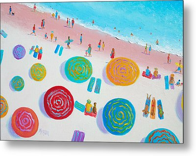 Beach Painting - A Walk In The Sun Metal Print by Jan Matson