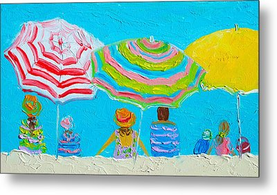 Beach Painting - Lazy Day In Summertime Metal Print by Jan Matson