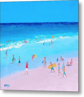 Beach Painting - Summer Holiday Metal Print by Jan Matson