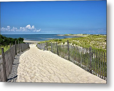 Metal Print featuring the photograph Beach Path At Cape Henlopen State Park - The Point - Delaware by Brendan Reals