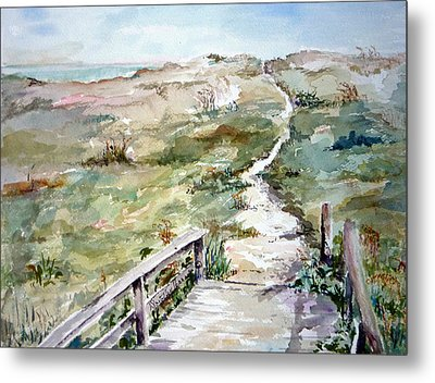 Beach Path Metal Print by Dorothy Herron