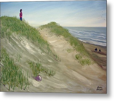 Metal Print featuring the mixed media Beach Prize by Kenny Henson