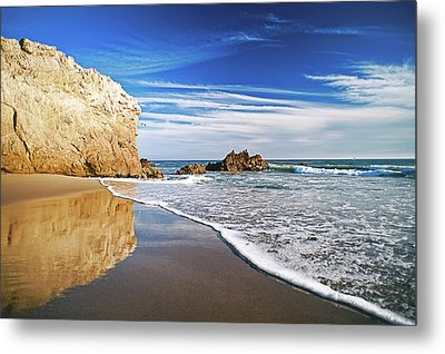 Beach Reflections Metal Print by Aron Kearney