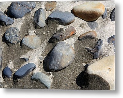 Metal Print featuring the photograph Beach Rocks 3 by Joanne Coyle