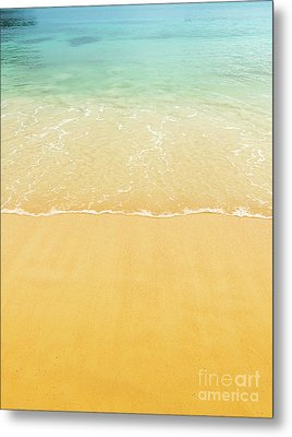 Beach Sand Background Metal Print by Tim Hester