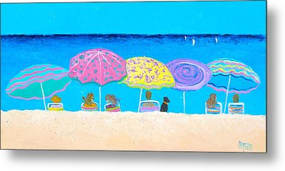 Beach Sands Perfect Tans Metal Print