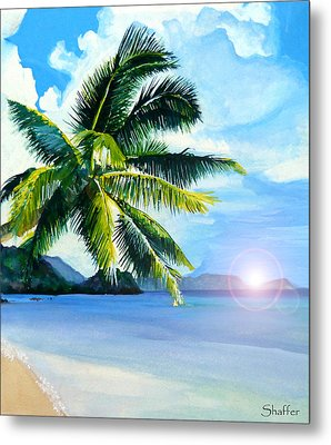 Beach Scene Metal Print by Curtiss Shaffer
