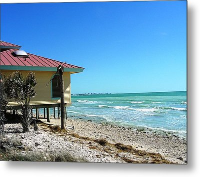 Beach Shack Metal Print by Peter  McIntosh