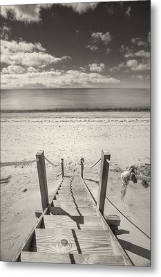 Beach Stairs Wellfleet Metal Print by Dapixara Art