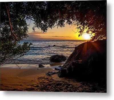 Beach Sunset Metal Print
