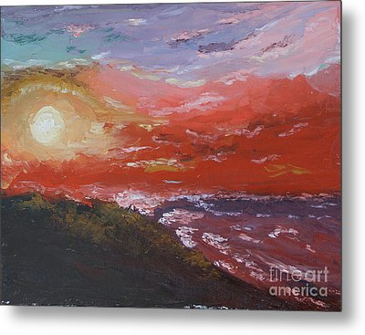 Beach Sunset Metal Print