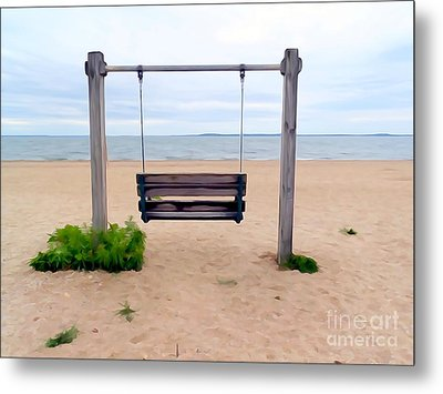 Beach Swing Metal Print