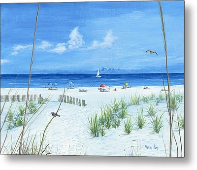Beach Time Metal Print by Mike Ivey