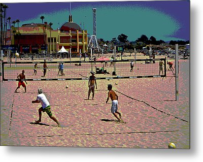 Beach Volleyball Metal Print by Tom Kelly