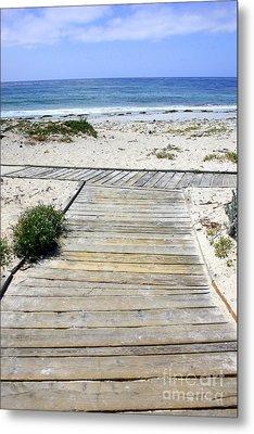 Beach Walk Metal Print by Carol Groenen
