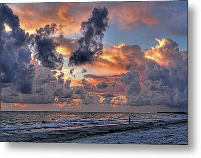 Beach Walk - Florida Seascape Metal Print