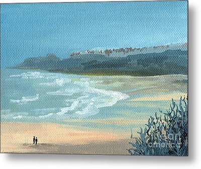 Beach Walkers Metal Print
