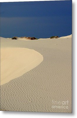 Beach With No Water Metal Print by Mark Grayden