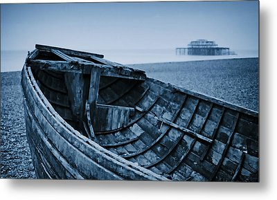 Beached At Brighton Metal Print by Tony Grider