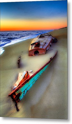 Beached Beauty Metal Print