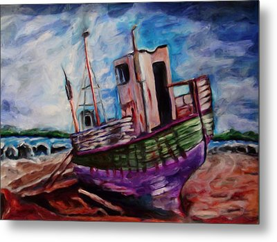 Beached Metal Print by Shelley Bain