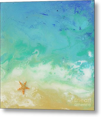 Beached Starfish Metal Print by Danielle Perry