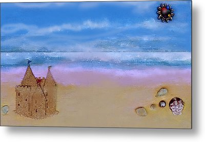 Beaches Castle Metal Print