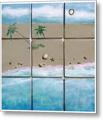 Beaches Cubed Metal Print