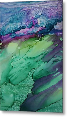 Beachfroth Metal Print