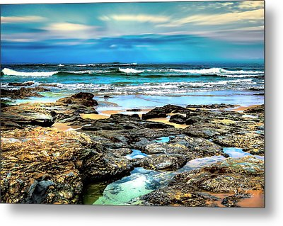 Metal Print featuring the photograph Beachscape At Hungry Head  by Wallaroo Images