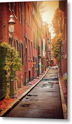 Metal Print featuring the photograph Beacon Hill Area Of Boston  by Carol Japp