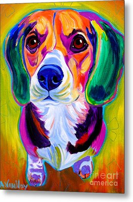 Beagle - Molly Metal Print by Alicia VanNoy Call