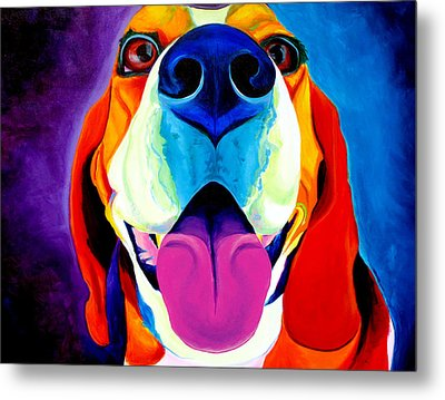 Beagle - Lollipop Metal Print by Alicia VanNoy Call
