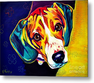 Beagle - Bailey Metal Print by Alicia VanNoy Call