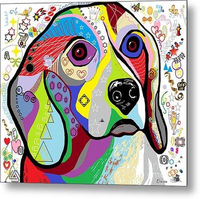 Beagle Metal Print by Eloise Schneider
