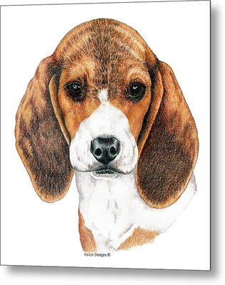 Beagle, Puppy Metal Print