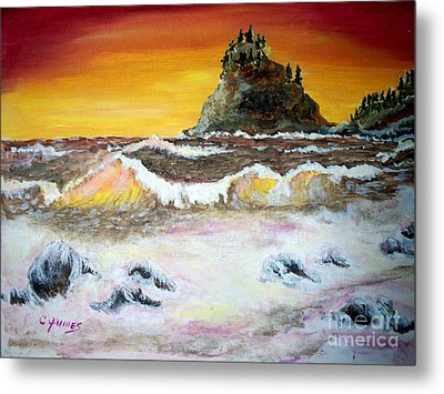 Beaitiful Breakers Metal Print by Carol Grimes