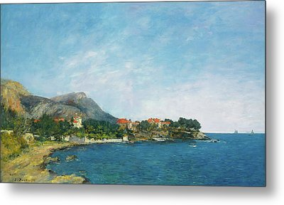 Metal Print featuring the painting Bealieu - The Bay Of Fourmis by Eugene Boudin