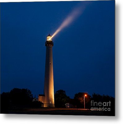 Metal Print featuring the photograph Beam Of Light At Cape May by Nick Zelinsky