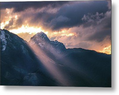 Beams Of Fire Metal Print
