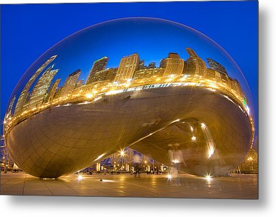 Bean Reflections Metal Print